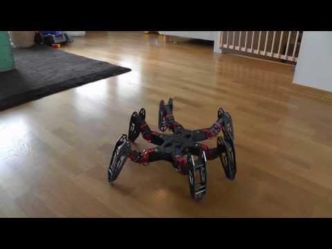 Hexapod Robot that can flip - Fast Walking - PhantomX running Phoenix code