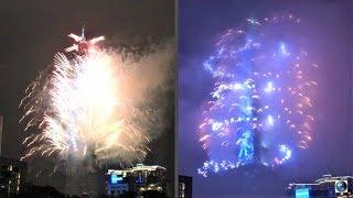 TAIPEI 101 FIREWORKS 2018 VS 2019 (FULL VERSION). TAIPEI CITY, TAIWAN