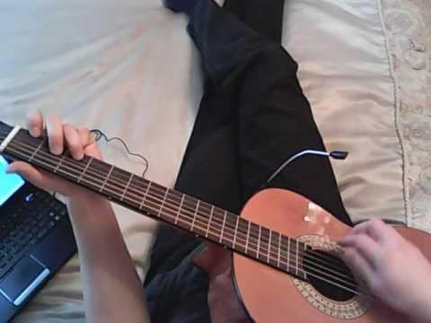 Dans les rues de Londres (Mylene Farmer) with tab of chords (+solo) -- classic guitar