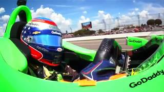 Danica Patrick on board camera 2018 Indy 500