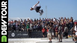 Pedro Barros Final Run: Skate Bowl Final Dew Tour Beach Championships 2013