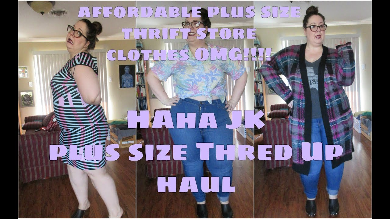 f5511a17aaf Another Plus Size Thred Up Haul - YouTube