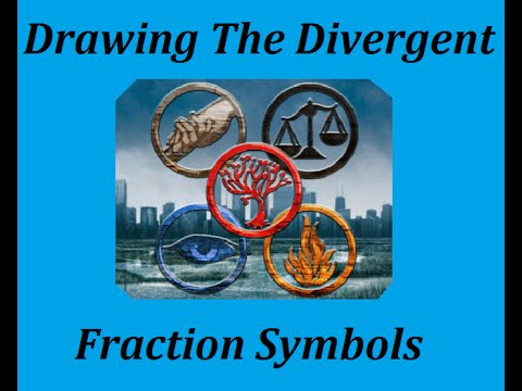 Drawing Divergent Faction Symbols Youtube