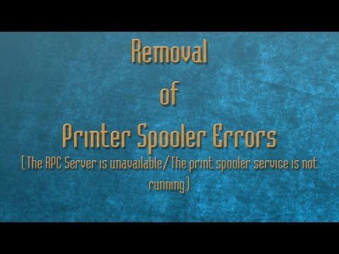 Removal of Printer Spooler Errors