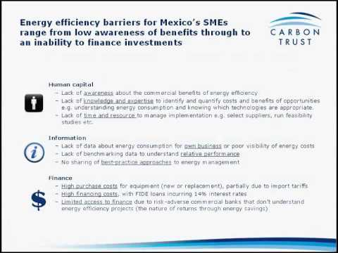 Inside Sustainability Webinar: Energy policy for SME energy efficiency in Mexico
