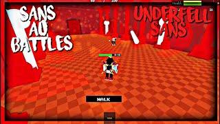 Roblox Sans Au Battles: UnderFell Sans (Solo)