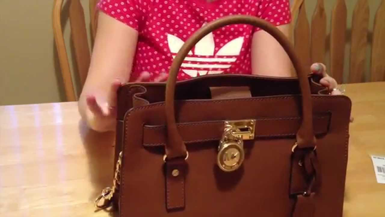 426aa876cd7f Michael Kors Hamilton Saffiano Satchel - YouTube