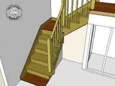 Construction escalier à palier Stairs Building - Sketchup 3D ...