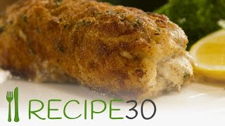 Chicken Cordon Bleu With Crusty Herb Coating - Recipe By Www.recipe30.com