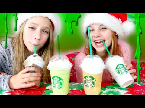 Starbucks Christmas Frappuccino Slime Try Not To Drink Challenge!