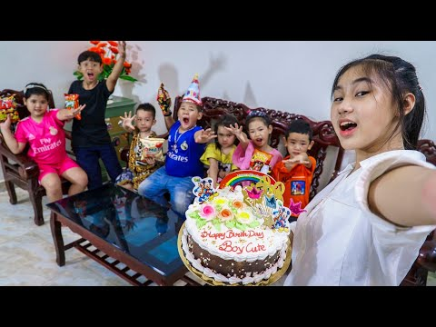 Kids Go To School | Day Birthday Of Chuns School Friends And Children Make a Birthday Eat At Home 2
