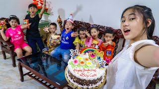 Kids Go To School Day Birthday Of Chuns School Friends And Children Make a Birthday Eat At Home 2
