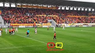 Göztepe Osmanlıspor maçı üç tribünden Haydi Bastır Şanlı Göztepe Hasta işi Göztepe net