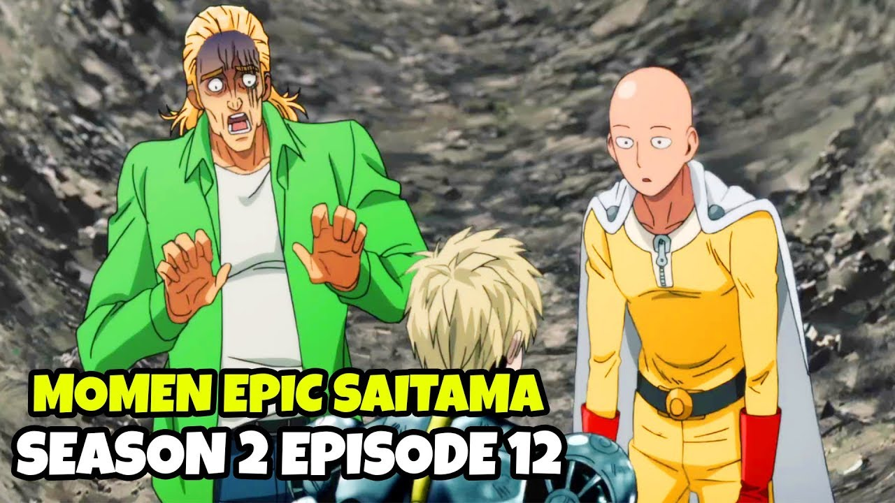 Pukulan Serius Saitama Di Akhir Season 2 Episode 12 Youtube