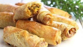 Recette des cigares au poulet / chicken Rolls recipe / لفائف الدجاج
