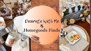 DECORATE WITH ME | FALL TABLESCAPE IDEA | FALL DECOR FINDS AT HOMEGOODS 2019 | FALL FARMHOUSE STYLE