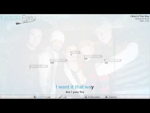 Backstreet Boys - I Want It That Way - Karaoke
