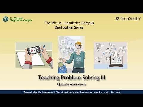 Teaching Problem Solving III - Quality Assurance