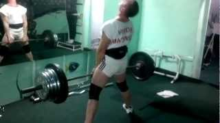Виктор Маценко. Становая тяга 190 кг.