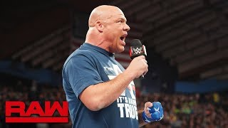 Kurt Angle will face Baron Corbin in his final match at WrestleMania: Raw, March 18, 2019