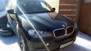 BMW X5 E70 – Замена задних тормозных колодок + датчик в полевых условиях!