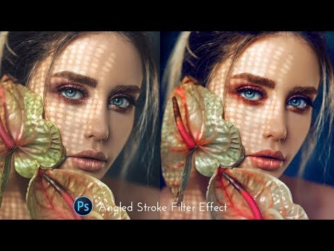 Angled Stroke Filter Effect - Photoshop tutorial thumbnail