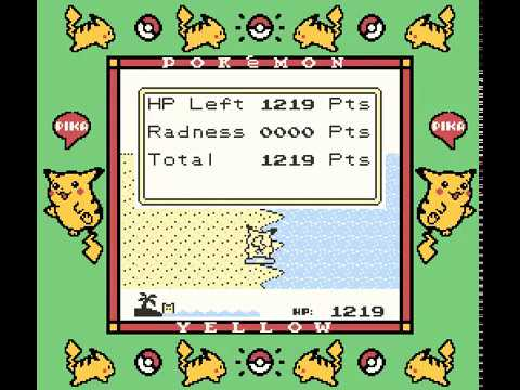 Unused Pikachu's Beach Sprites, Text And Icons (Pokémon Yellow)