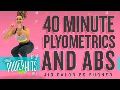 40 Minute Plyometric and Abs Workout ��Burn 410 Calories!* ��Sydney Cummings