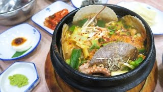 Korean Seafood Soup in Busan ♦ Exploring Haeundae Beach