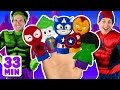 Superheroes Finger Family And More Finger Family Songs Superhero Finger Family Collection mp3