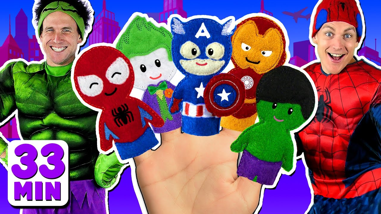 Download Superheroes Finger Family and more Finger Family Songs! Superhero Finger Family Collection