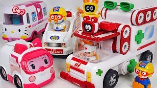 Dory, Nemo are sick~ Let's go Tuktakman ambulance! with Pororo, Amber ambulance! - PinkyPopTOY