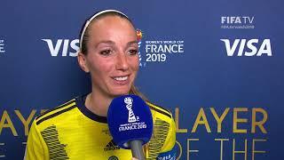 Kosovare Asllani – Player of the Match – Sweden v Thailand