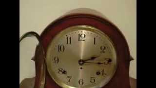 SETH THOMAS 8 DAY SONORA WESTMINSTER CHIME MANTEL CLOCK TAMBOUR STYLE
