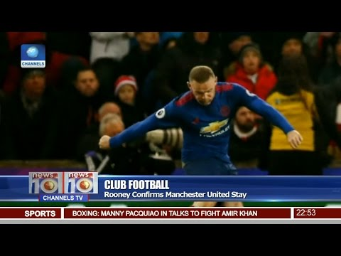 News@10: Rooney Confirms Manchester United Stay 23/02/17 Pt 4