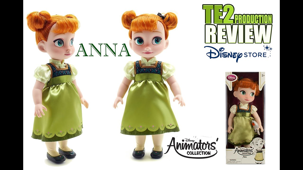 review poup e disney animators collection anna frozen en fran ais youtube. Black Bedroom Furniture Sets. Home Design Ideas