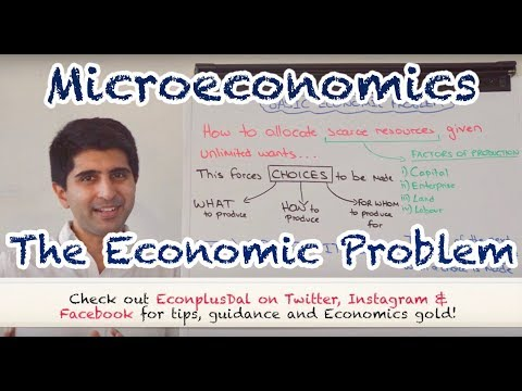 Y1/IB 1) The Economic Problem (Scarcity & Choice)