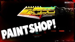 cod bo3 paintshop custom knife speed art pimp my knife cod black ops 3 ceate a knife
