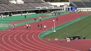 第23回山形県マスターズ陸上100m走。平成27年10月12日。