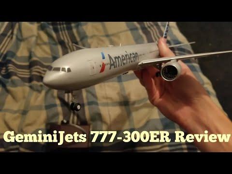 GeminiJets 777-300ER Mini Review   1:200 American Airlines