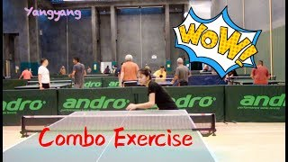 Backhand Push + Forehand Loop + Forehand Topspin——Yangyang's table tennis lessons