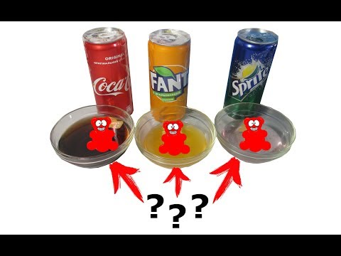 Tests with Coca-Cola,Fanta,and Sprite