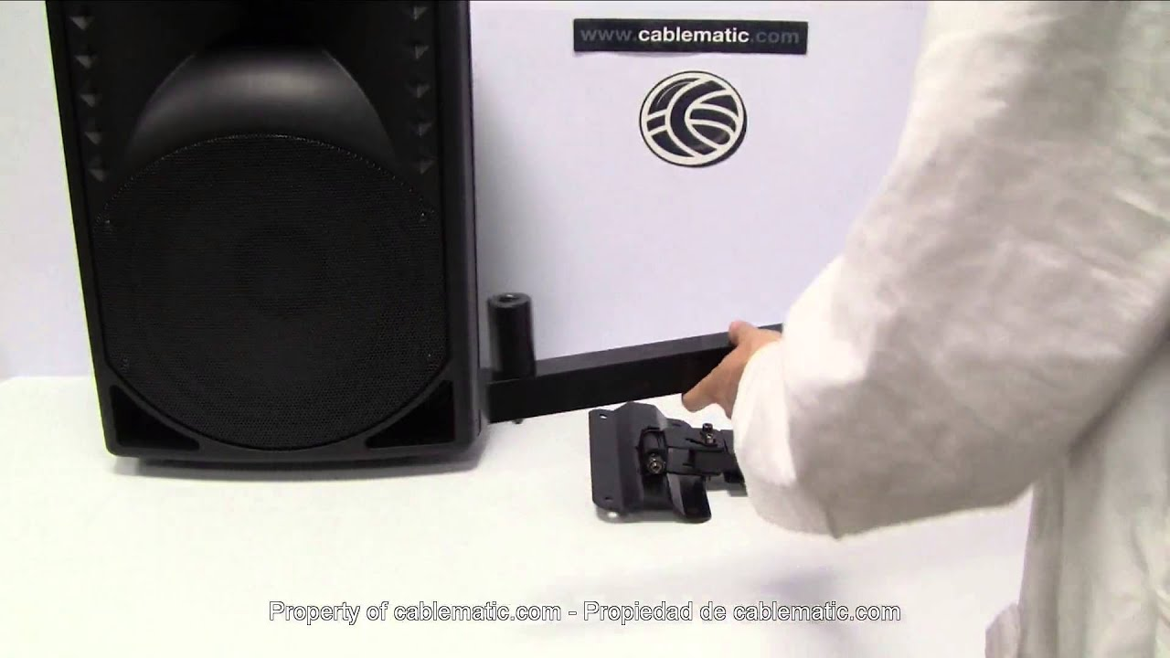 Soportes de altavoz de pared distribuidos por cablematic - Soporte pared altavoces ...