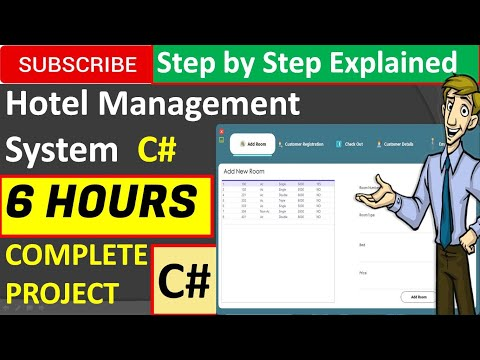 Hotel Management System In Csharp (C#, Visual Studio, Mysql) Complete Project (Step By Step)