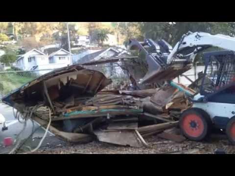 demolition of old ship yard cleanup