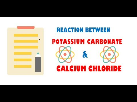 Potassium Carbonate And Calcium Chloride Youtube