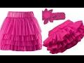 Ruffle skirt DIY| how to make ruffle skirt step by step tutorial