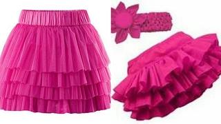 Ruffle skirt DIY  how to make ruffle skirt step by step tutorial