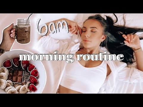 6am Morning Routine 2021 // Productive U0026 Healthy ~aesthetic~