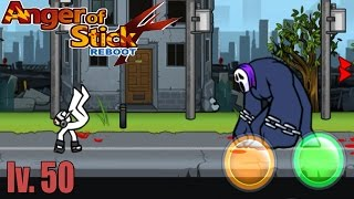Anger Of Stick 4 Reboot: LEVEL 50 - Gameplay  HD [Android]